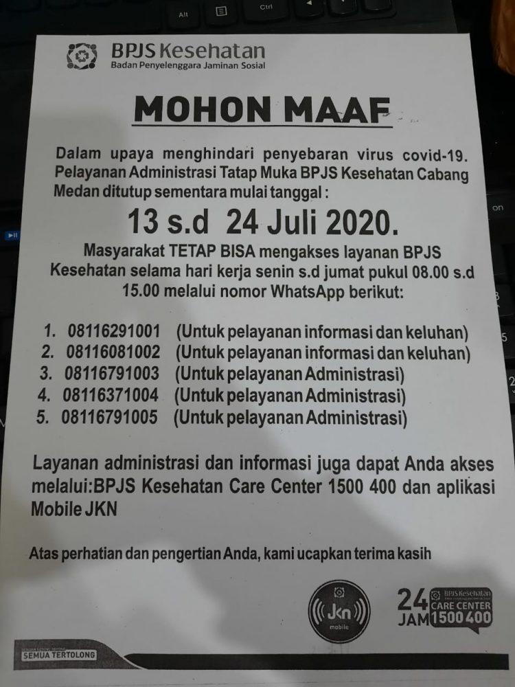 Pegawai Terpapar Corona Kantor Bpjs Jalan Karya Medan Tutup Sementara Medan Pos Online